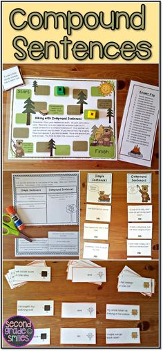 Teaching your 2nd grade students to write compound sentences? Make practice fun with these activities. My students especially love the sorts and board game!