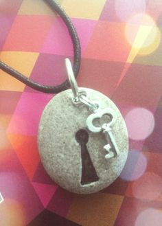 Necklace rock key keyhole