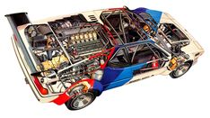 BMW M1Procar cutaway illustration