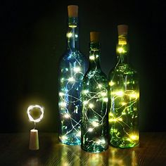 Innozon Wine Bottle Light Cork Lights 426ft13m 15 LEDs Copper Wire Starry String Light for Bottle DIY and Party Christmas Halloween Dcor Xmas Gift 3 Pack Warm White >>> For more information, visit image link. (This is an affiliate link)