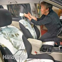 Spruce up Your Car: How to Install Seat Covers. Here's how: http://www.familyhandyman.com/automotive/car-maintenance/spruce-up-your-car-how-to-install-seat-covers/view-all