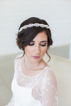 Pearl and Crystal headpiece, Silver Headband, Pearl Art Deco headband, bridal headpiece, wedding hair accessories, wedding headband, crystal headband, Crystal tiara This beautiful headband is adorned with loads of faux pearls and sparkly crystals in a lovely and romantic pattern. The headband is