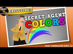 SECRET AGENT COLORS (song for kids about locating colors in the room)