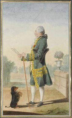 M de Boisandre, 1764 by Louis Caroggis Carmontelle (1717-1806)