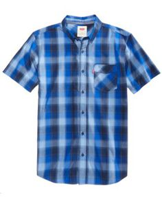 dd658f873be6 Levi s Men s Vernon Slim-Fit Plaid Shirt   Reviews - Casual Button-Down  Shirts - Men - Macy s