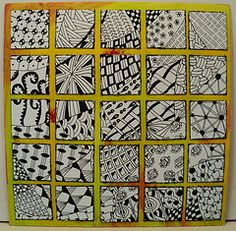Zentangle inchies    ....FANTASTIC SITE!