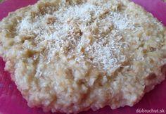 Fotorecept: Kokosovo-citrónová kaša z varenej pohánky Krispie Treats, Rice Krispies, Grains, Breakfast, Desserts, Food, Tailgate Desserts, Meal, Dessert