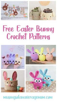 More than 30 Free Easter Bunny themed Crochet Patterns Easter Bunny Eggs, Happy Easter Bunny, Easter Peeps, Hoppy Easter, Easter Bunny Crochet Pattern, Crochet Patterns, Crochet Yarn, Free Crochet, Ravelry Free