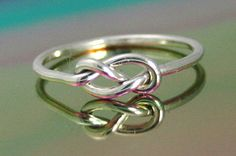 16 ga sterling silver ring knot ring infinity by CapturedIllusions, $28.00