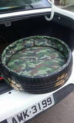 Image result for cama de cachorro de pneu