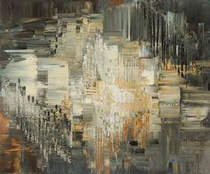 """Breakers Beach"" 30""x36"" palette knife abstract painting by Tatiana Iliina"