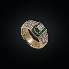 Vintage Design Emerald & Diamond Chevalier Emerald Diamond, Vintage Designs, Class Ring, Passion, Rings, Jewelry, Jewlery, Jewerly, Ring