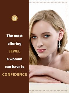 There is an innate beauty in confidence. Flaunt your beauty with alluring designs from #MalaniJewelers. You can shop from our elegant designs on our website. #JewelryQuotes Diamond Jewelry, Gemstone Jewelry, Gold Jewelry, Elegant Designs, Jewelry Quotes, Jewelry Collection, Confidence, Jewels, Website