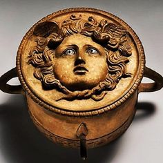 Bronze ornament from a chariot pole, with a depiction of Medusa/a gorgoneion; Imperial, 1st-2nd century AD, Roman,Bronze (The Metropolitan Museum of Art)