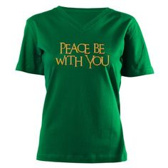 Peace Be With You Women's V-Neck Dark T-Shirt