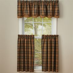 Jake's Country Trading Post - Thorton Lined Layered Valance - Size - 72W x 16L, $31.50 (http://www.jakeshomeaccents.com/thorton-lined-layered-valance-size-72w-x-16l/)