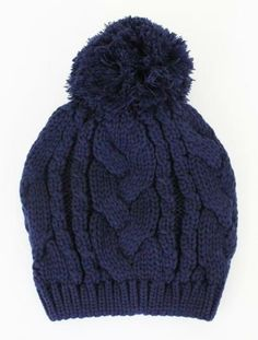 Prep School Pom Pom Beanie in Navy Winter Wear, Autumn Winter Fashion, Winter Hats, Winter Style, Winter Warmers, Winter Wardrobe, Winter Outfits, Winter Clothes, Passion For Fashion