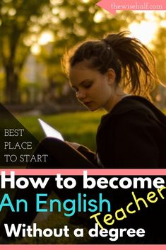 No degree? No experience? Want to start teaching english online? Here's how you can start making money English w/ or w/out a degree