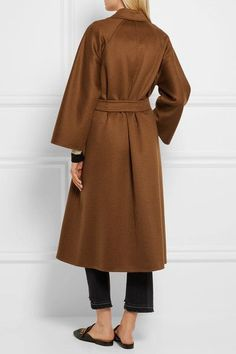 Max Mara - Labro Oversized Cashmere Coat - Brown - UK12