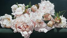 Peonies Painting by Thomas Darnell - Peonies Fine Art Prints and Posters for Sale
