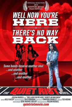 "QUIET RIOT - Documentario in arrivo ""Well Now You're Here, There's no Way Back"" #QuietRiot"