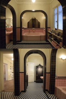 Of the Best Ideas for Apartment Decorating Ideas - Best Home Ideas and Inspiration Art Deco Bathroom, Art Deco Home, Piece A Vivre, Vintage Bathrooms, Retro Home, Bathroom Interior Design, Exterior Design, Architecture Design, New Homes