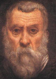 """""""Tintoretto"""". Auto-Retrato. (Jacopo Robusti). (c.1518 - 31/Maio/1594)."""