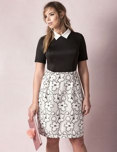 Studio Collared Floral Print Dress | Sweet Spot Collection | Women's Plus Size Fashion | ELOQUII