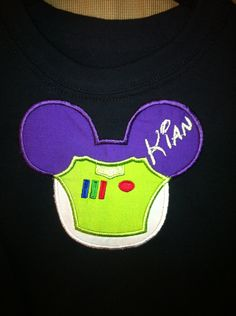 Buzz Lightyear Style Mouse Head Custom by lollimollybows on Etsy, $19.95