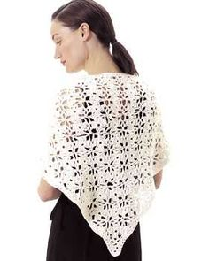 ❀ Crochet Flower Lace Shawl. Sweet, simple and perfect for summer evening walks on the beach.