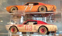 1:24 plastic kit:  Pontiac GTO dirt track racecar and Chevrolet Monte Carlo dirt track racecar.