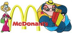 Dr. Jumba Jookiba and McDonalds logo machine embroidery design