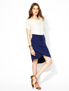 Pleated Silk Wrap Front Skirt by Kieran Dallison, the CFDA/Gilt All-Star Scholarship Winner only on Gilt.com!