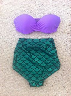 mermaid high-waisted bikini.