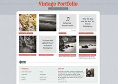 Vintage Portfolio Tumblr theme $19