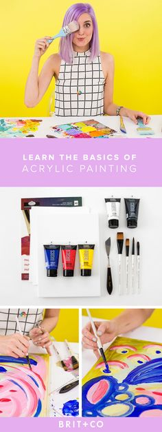 Learn the basics of acrylic painting with this online class and kit. http://go.brit.co/1HvgA09