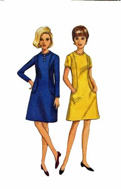 Butterick 4494 1960s Misses Dress Sewing Pattern A by retromonkeys, $12.00