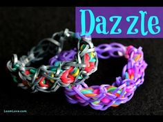 Rainbow Loom DAZZLE Bracelet. Designed and loomed by Loom Love. Click photo for YouTube tutorial. 03/02/14