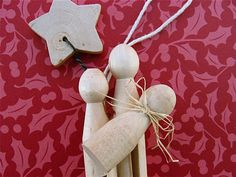 Clothespin Nativity Ornament