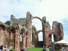 Lindisfarne Castle in Berwick, Northumberland