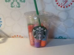 do you know that two cool things? Starbucks & baby lips or other lipbalsems. Everyone loves it but my thing cleans up my room and gives a cute effect. I LOVE IT <3