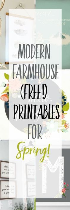 Free Modern Farmhouse Printables for Spring