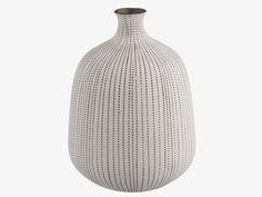 STITCH NEUTRAL Ceramic White porcelain vase - HabitatUK