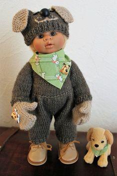 """Tuto combinaison """"chien"""" pour poupée 32cm"""