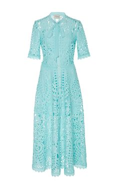 Berry Lace Neck Tie Dress by TEMPERLEY LONDON Now Available on Moda Operandi