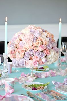 How to Make a Floral Centerpiece + Spring Party Inspiration