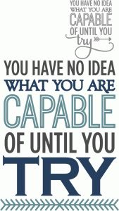 Silhouette Design Store - View Design #63670: capable until you try - phrase