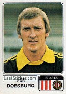 PIM DOESBURG 1978-79 SPARTA ROTTERDAM Sparta Rotterdam, Sparta Prague, The Past, Baseball Cards, Football Soccer