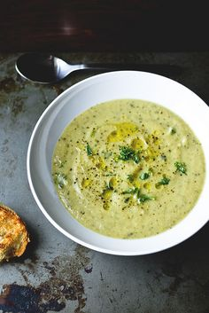 Roast Zucchini Stilton Soup for Sixcoursedinner. Autumnal perfection.  http://www.sixcoursedinner.com/2011/10/roast-zucchini-soup-with-stilton.html