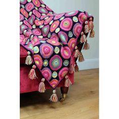 Magic Circles Crochet Blanket by Jane Crowfoot   Black Sheep Wools